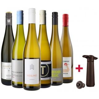 2018 Weißwein Entdecker-Paket & Vacuvin Vakuumpumpe