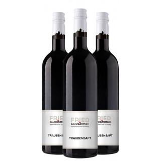 3x Traubensaft rot - Weingut Fried Baumgärtner