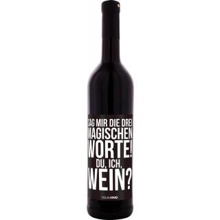 """""""Sag mir die drei magischen Worte"""" Rotwein Trocken - Visual Vino"""