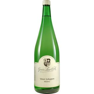 """2016 Riesling """"Unser Schoppen"""" halbtrocken - Weingut Goswin Lambrich"""