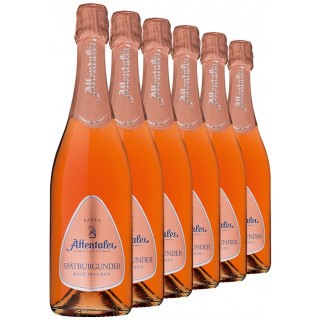 2019 Affentaler Spätburgunder Rosé Sekt b.A trocken (6 Flaschen) - Affentaler Winzer