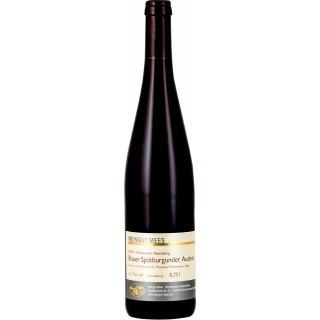 2018 Blauer Spätburgunder Rotwein Auslese edelsüß süß Kreuznacher Rosenberg Nahe - Weingut Mees