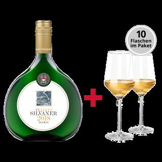 10 Flaschen Silvaner Kabinett-Paket