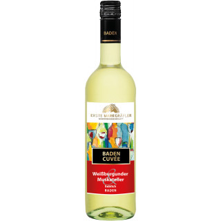 Erste Markgräfler Cuvée Weiß Weißburgunder und Muskateller lieblich - Winzergenossenschaft Schliengen-Müllheim