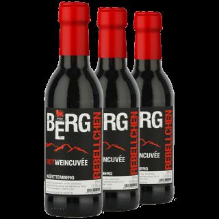 3x 2018 BergRebell Rotweincuvée 0,25 L - Winzer vom Weinsberger Tal