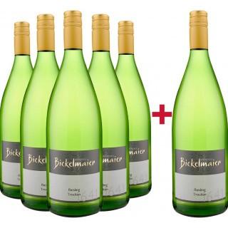 5+1 Paket Riesling 1L trocken - Weingut Manfred Bickelmaier