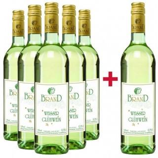 5+1 Paket Winzerglühwein weiß - Weingut Brand