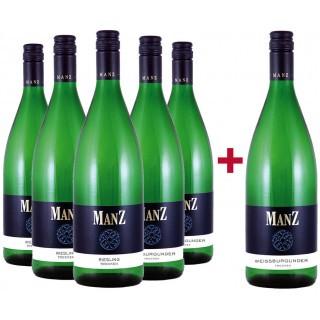 5+1 Paket Weiß  - Weingut Manz