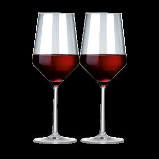 2er-Set Zwiesel Kristallglas Pure Rotwein-Glas