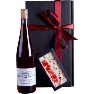 Himbeerwein & Schokolade Geschenkpaket - Schäfer Fruchtweine