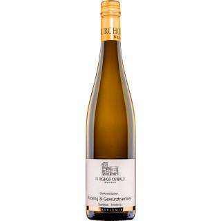 2018 Cuvée WEIß aus Riesling & Gewürztraminer feinherb - Weingut Burghof Oswald