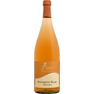 2020 Wöllsteiner Rheingrafenstein Portugieser Rosé halbtrocken 1,0 L - Winzer der Rheinhessischen Schweiz