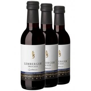 3x Lemberger QbA trocken 0,25L (3 Flaschen) - Felsengartenkellerei Besigheim