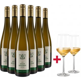 Domhof Grauburgunder vom Löss-Paket + Gläser