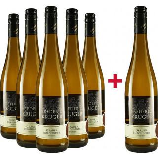 5+1 Paket 2019 Grauer Burgunder trocken - Weingut Zehnthof Kruger