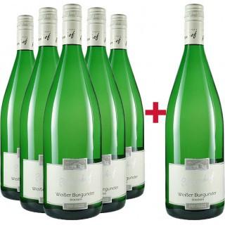 5+1 Weißburgunder Literweinpaket - Wein- und Sektgut Rosenhof