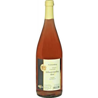 2019 Beilsteiner Wunnenstein Schwarzriesling Rosé halbtrocken 1,0 L - Weinkellerei Wangler
