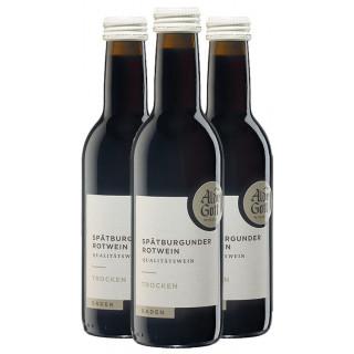 3x 2018 Spätburgunder Rotwein Qualitätswein trocken 0,25 L - Alde Gott Winzer Schwarzwald