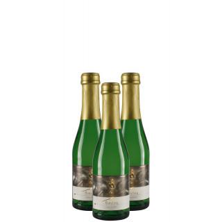 3x 2017 Riesling Sekt extra trocken Piccolo 0,2L Bio - Weingut Winfried Seeber