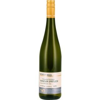 2019 KANZLER SPÄTLESE SÜSS Kreuznacher Rosenberg Lagenwein Nahe süß - Weingut Mees