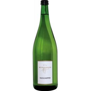 Hausschoppen Weißwein trocken 1,0 L - Weingut Weidenberger Hof