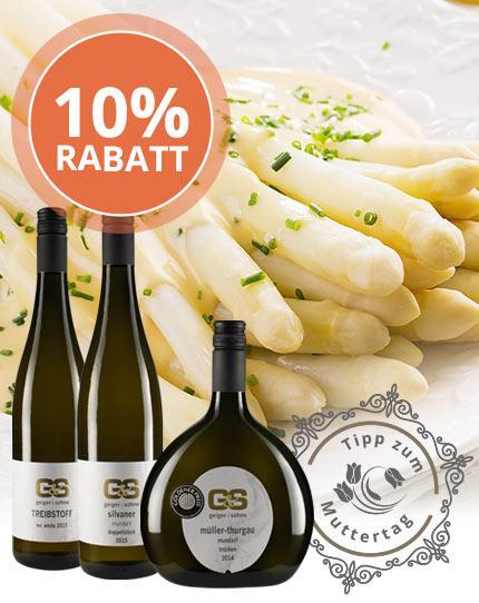 Saftig-fruchtige Spargel-Weine aus Franken