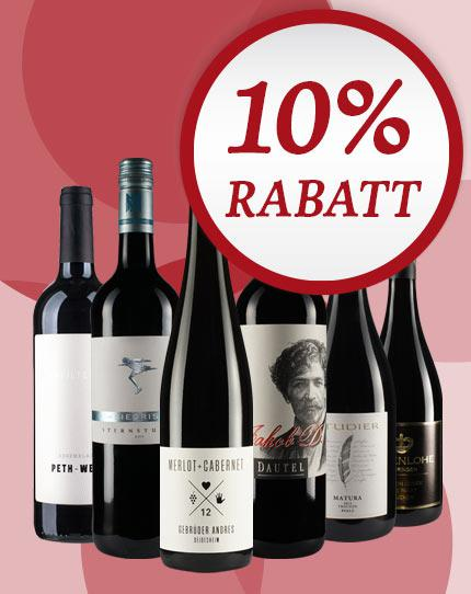Kompromißlos ausgewählt: das WirWinzer Favoriten Rotwein-Paket 2.0