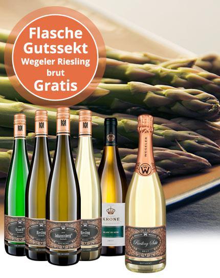 Probierpaket zur Spargelsaison + 1 Flasche Gutssekt Riesling brut