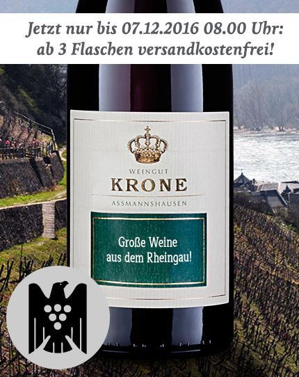 Jetzt für kurze Zeit schon ab 3 Flaschen versandkostenfrei - Weingut Krone