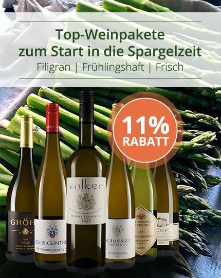 Weinpakete zur Spargelzeit