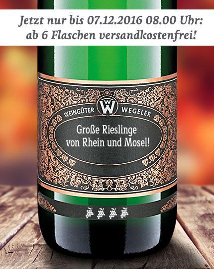 ab 6 Flaschen versandkostenfrei - Weingüter Wegeler (Rheingau & Mosel)