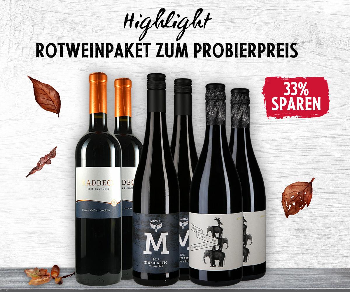 Rotweincuvée - Probierpaket