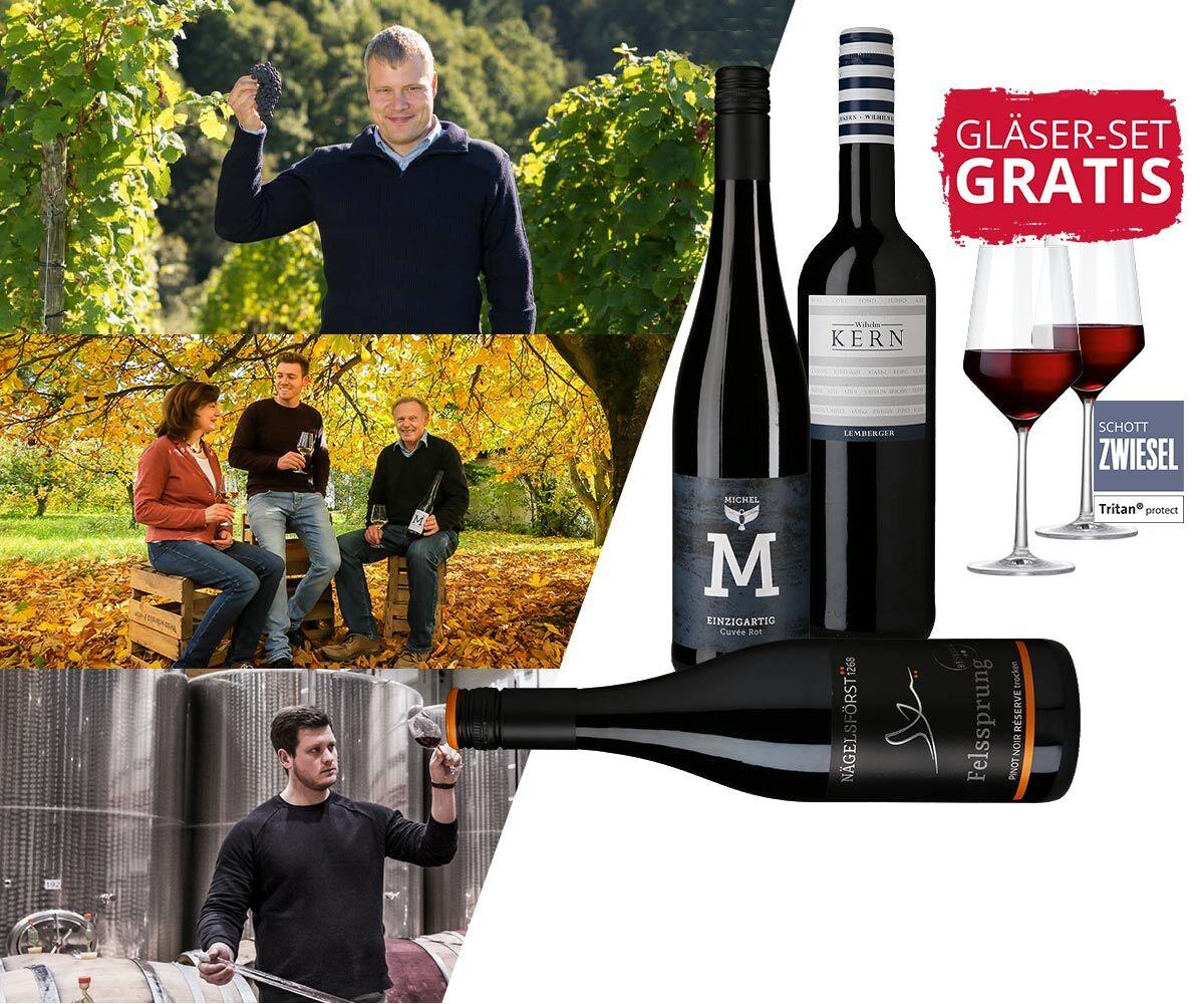 WEIN-HIGHLIGHT NR. 3 Rotweinweingläser gratis zum Paket