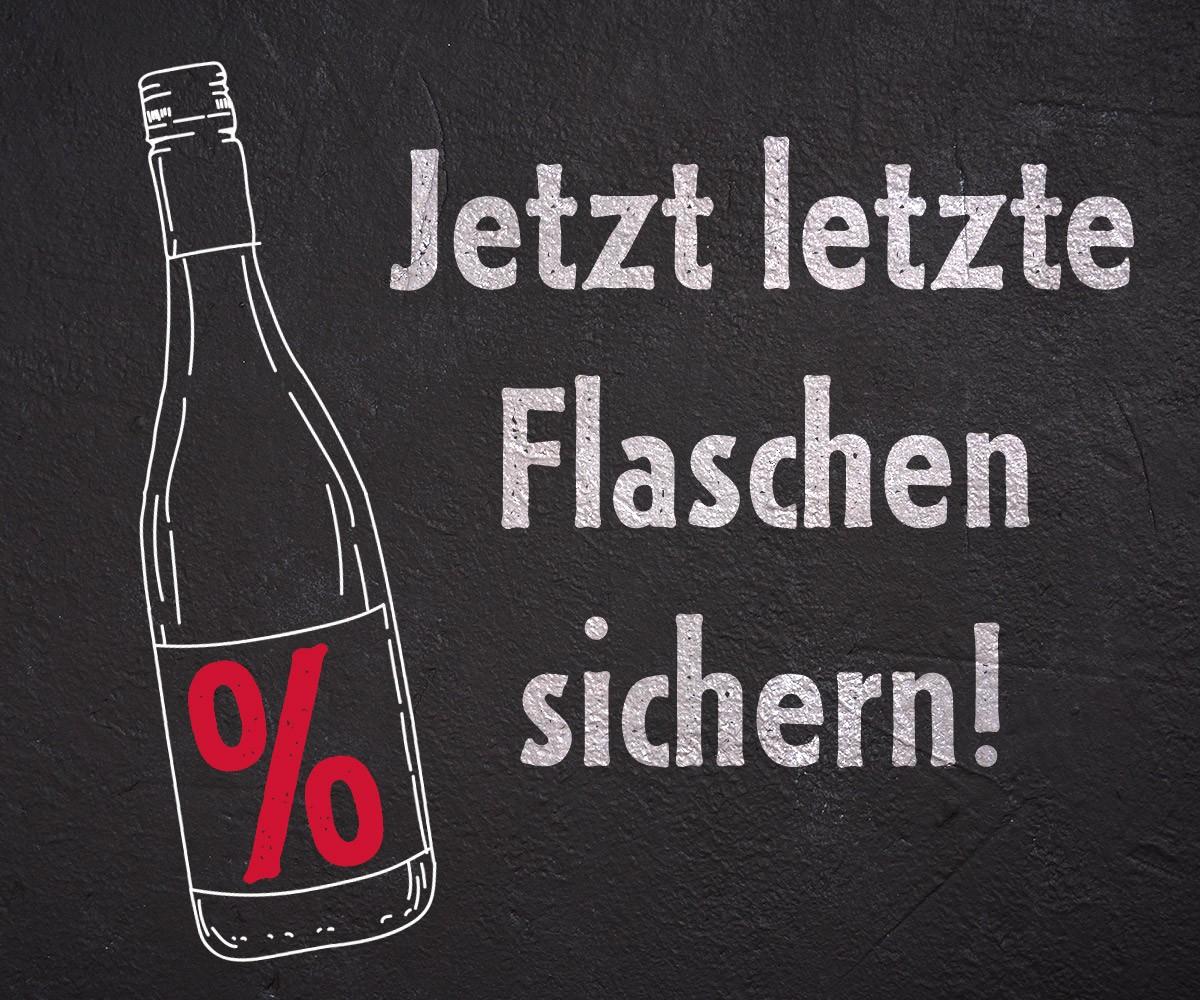Letzte Flaschen sichern!