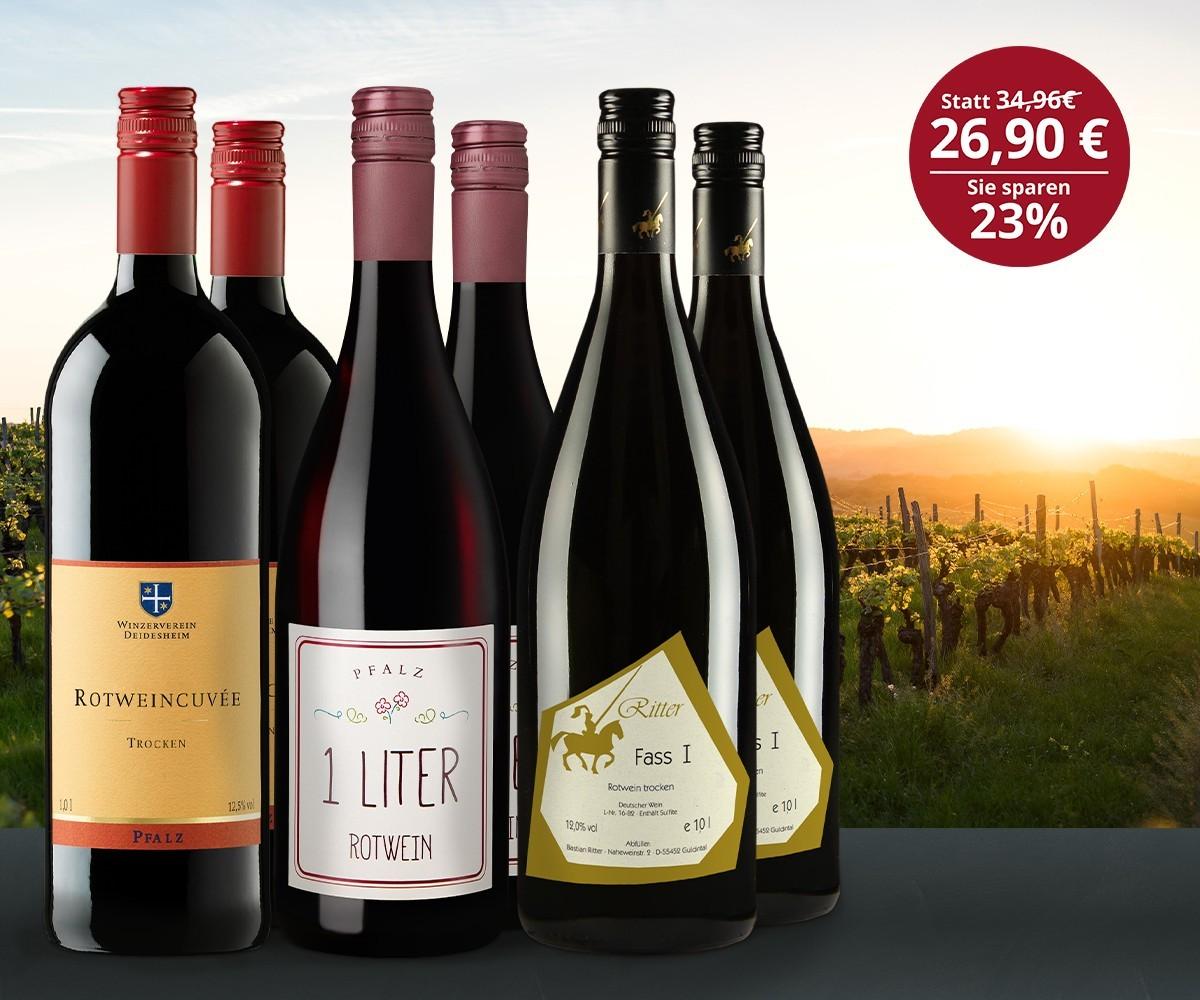 Rotwein Liter Favoriten Paket