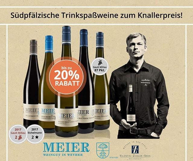 Südpfälzische Trinkspaß-Weine zum Knaller-Preis