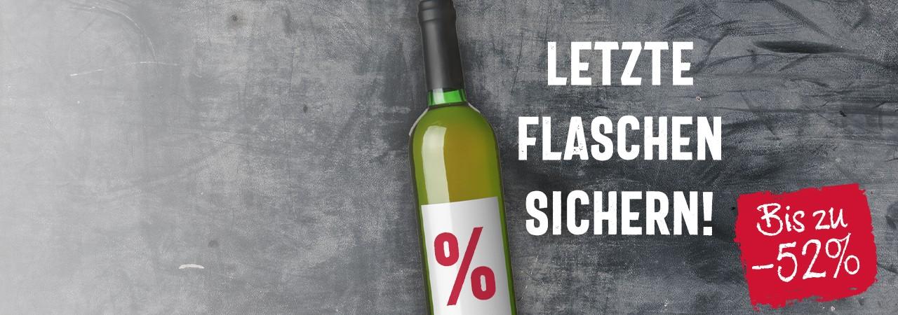 Letzte Flaschen sichern