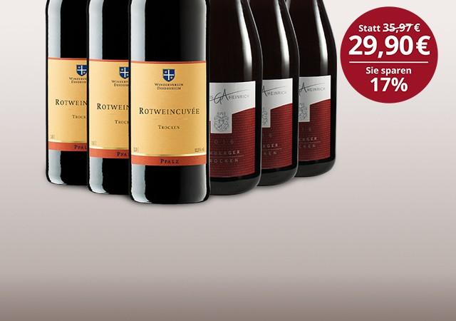 Letzte Flaschen Liter Rotwein-Paket