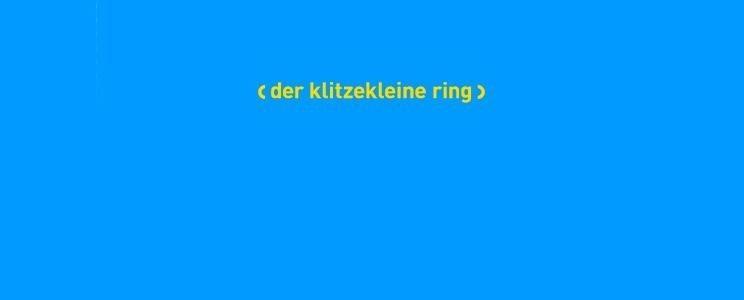Der klitzekleine Ring