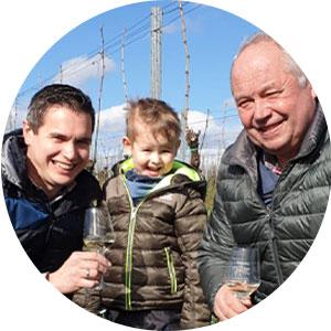 Patrick, Theo und Gerd Johler