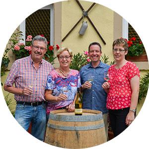 Hans-Jürgen, Annelie, Jörg und Andrea Theobald
