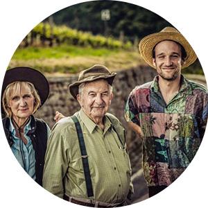 3 behütete Generationen Karl Stein, Edith Schneider, Rainer Schneider