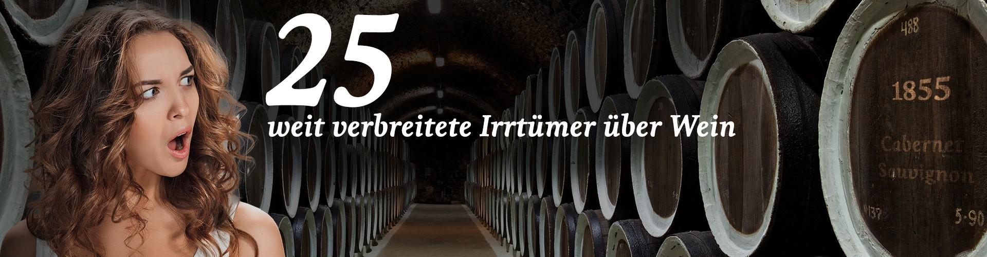 25 Irrtümer über Wein Header