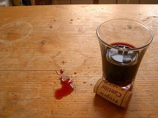 Weinglas & Korken