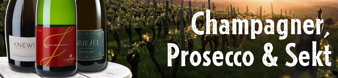 Champagner, Prosecco, Secco