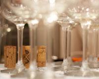 Der Wein korkt