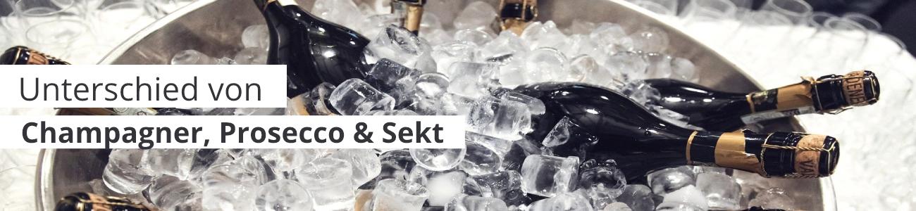 Champagner, Prosecco, Sekt wo liegt der Unterschied